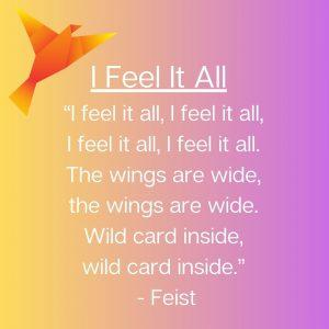 """Feist """"I Feel It All"""" song lyrics"""